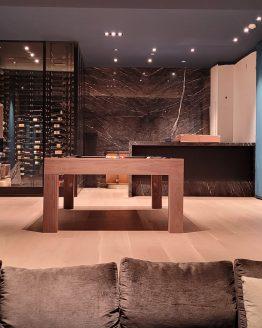modern pool table, custom pool tables, contemporary tool tables, modern walnut pool table