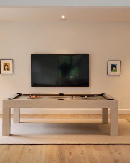 modern pool table, custom pool tables, contemporary tool tables, modern oak whitewash pool table